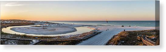 Grayton Beach Dawn Panorama Canvas Print
