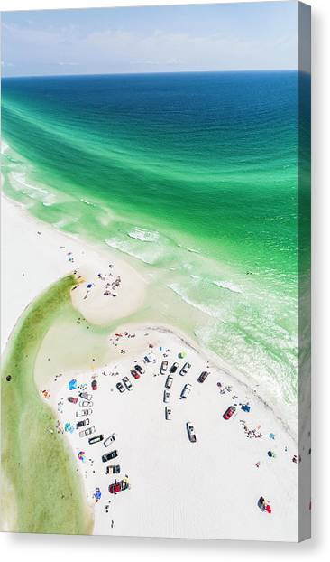 Grayton Beach Hang Time Canvas Print
