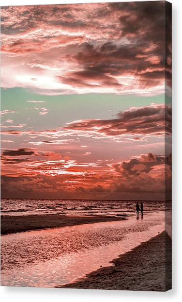 Grayton Red Sunset Canvas Print