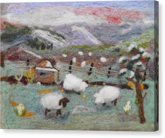 Grazing Woolies Canvas Print