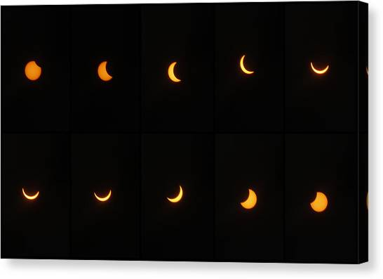 Great American Eclipse 2017 Canvas Print