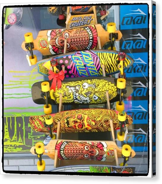 Color Canvas Print - Great Art On These Skateboards! by Shari Warren