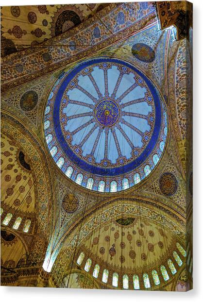 Great Blue Dome Canvas Print