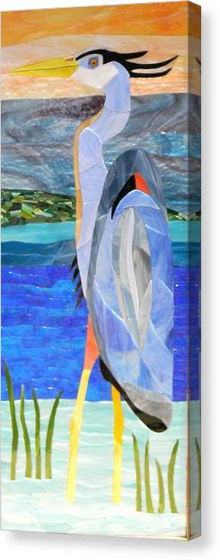 Great Blue Heron 2 Canvas Print by Charles McDonell