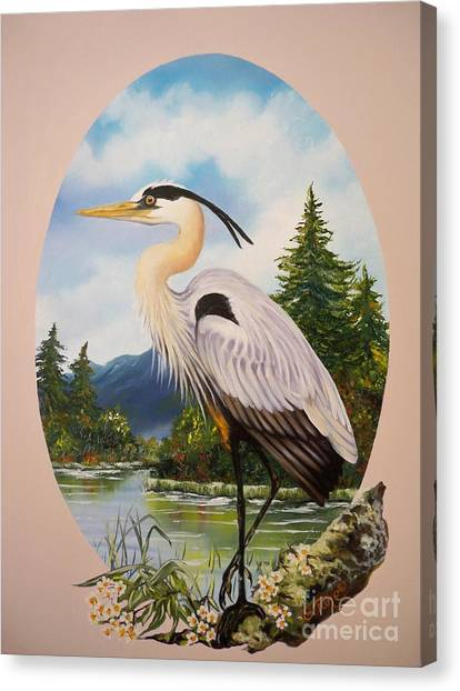 Flying Lamb Productions                 Great Blue Heron Canvas Print