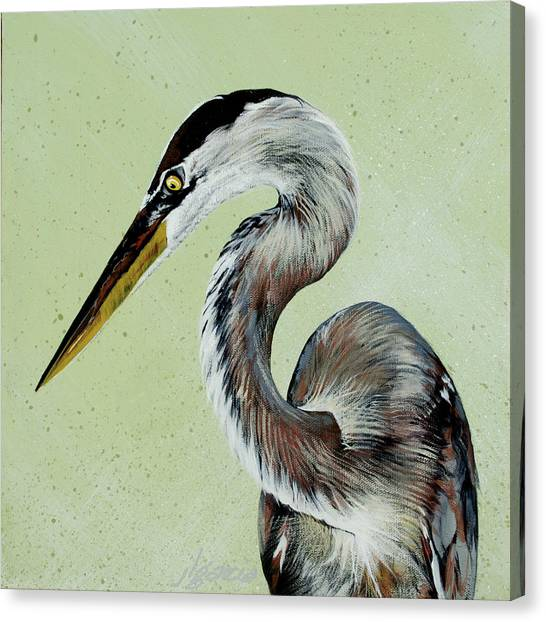 Great Blue Milton Canvas Print
