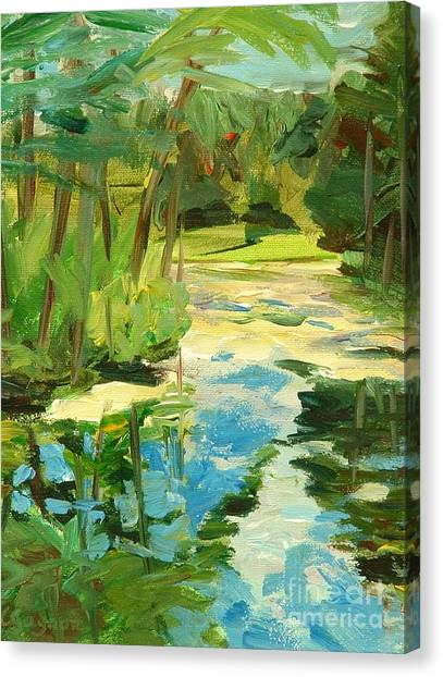 Great Brook Farm Canoe Launch Canvas Print