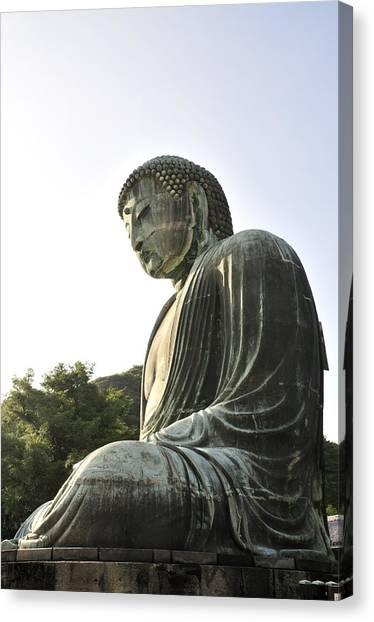 Great Buddha Of Kamakura Canvas Print by Andy Smy