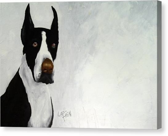 Great Dane Canvas Print by Dick Larsen