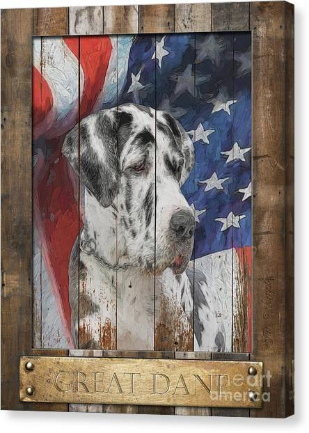 Great Dane Flag Poster Canvas Print by Tim Wemple