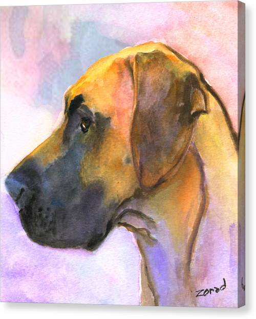 Great Dane Canvas Print by Mary Jo Zorad