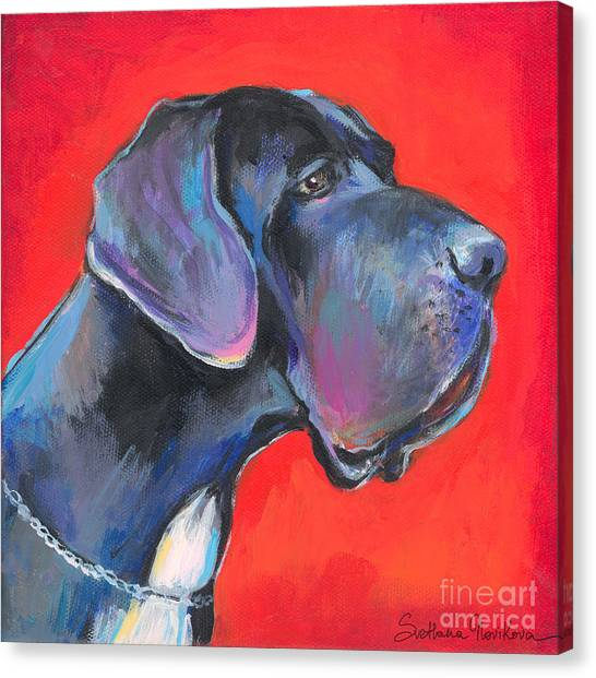 Great Dane Painting Canvas Print