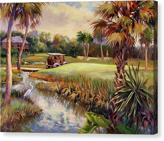 Great Day For Golf Canvas Print by Dianna Willman
