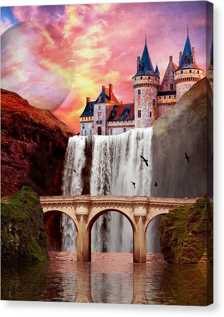 Great Falls Castle Canvas Print