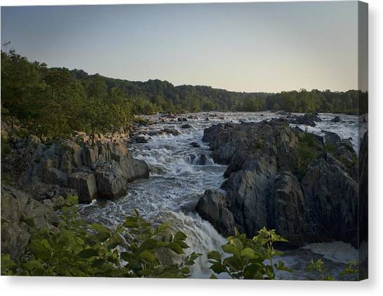 Great Falls Canvas Print by Christina Durity