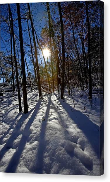 Great Falls Park Virginia After A Winter Blast Canvas Print by Brendan Reals