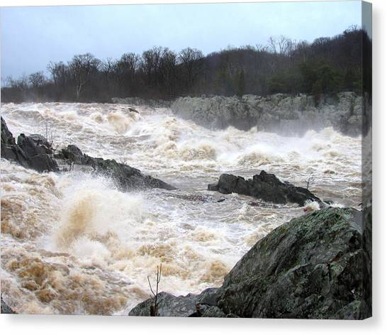 Great Falls Torrent Canvas Print