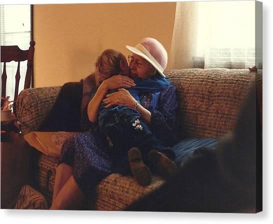 Great-grandma Hug Canvas Print