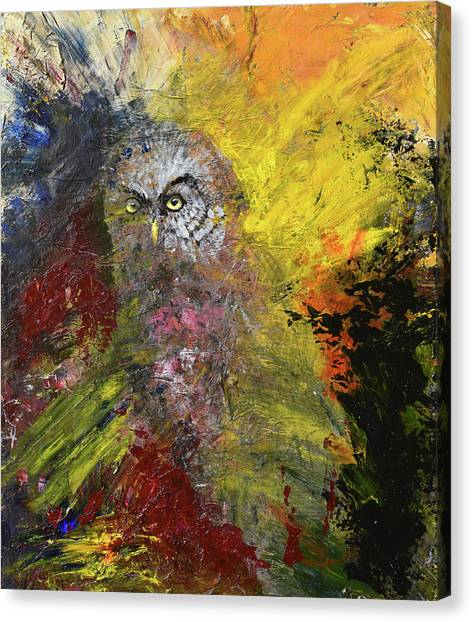 Great Grey Owl Canvas Print by Sean Seal