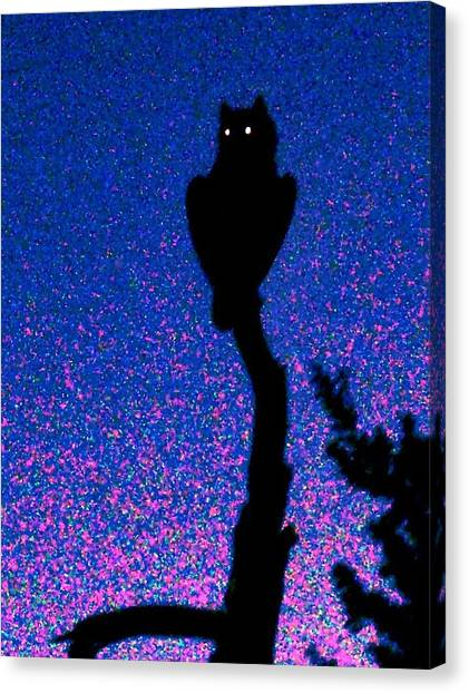 Great Horned Owl In The Desert Canvas Print