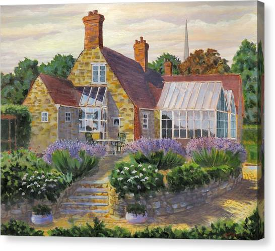 Great Houghton Cottage Canvas Print