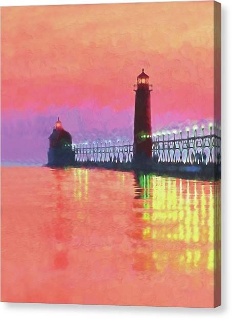 Great Lakes Light Canvas Print