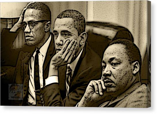 Barack Obama Canvas Print - Great Minds by Tredarion Hampton