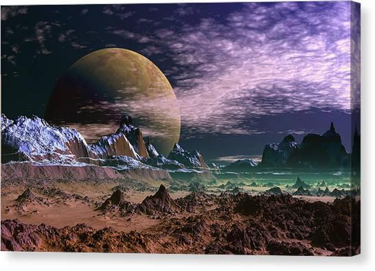 Great Moona. Canvas Print by David Jackson