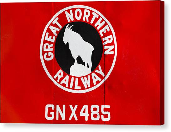 Caboose Canvas Print - Great Northern Caboose by Todd Klassy