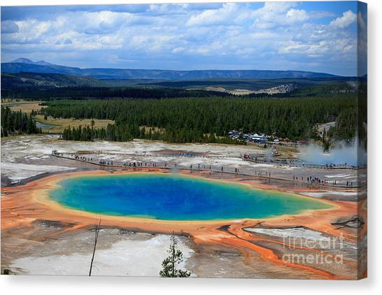 Great Prismatic Spring   Canvas Print