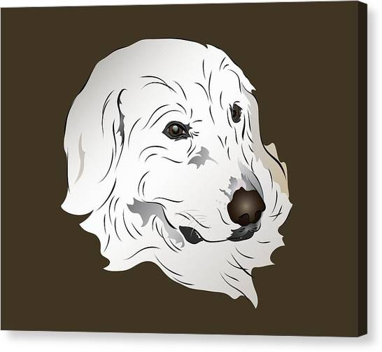 Great Pyrenees Dog Canvas Print