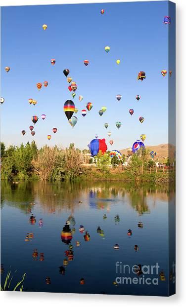 Great Reno Balloon Races Canvas Print