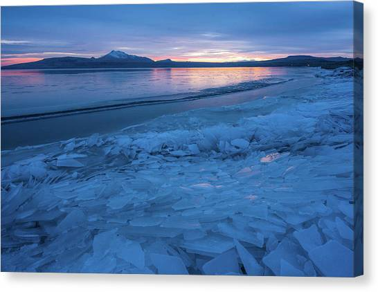 Great Salt Lake Ice Sheets Canvas Print