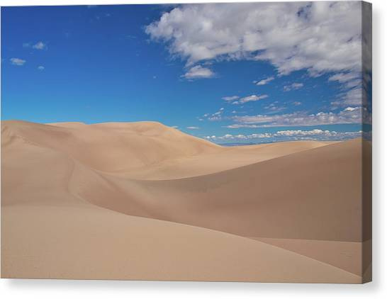 Great Sand Dunes Under A Blue Sky Canvas Print
