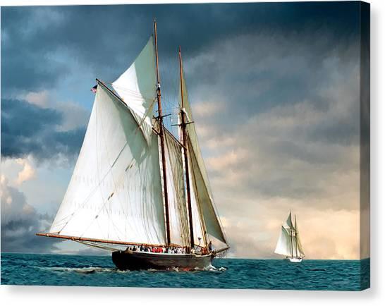 Great Schooner Race Canvas Print