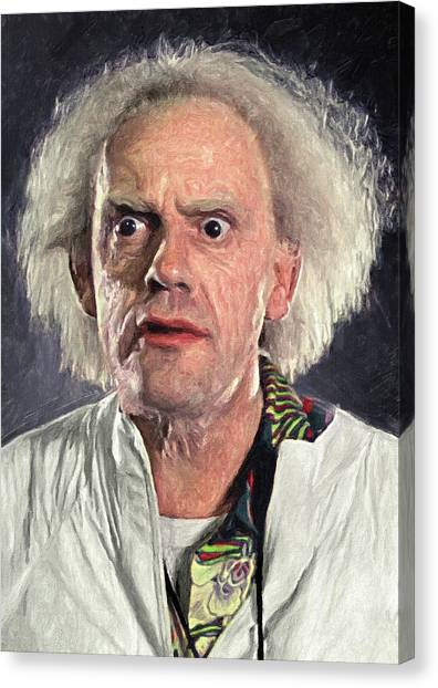 Back To The Future Canvas Print - Great Scott - Doc Brown by Zapista