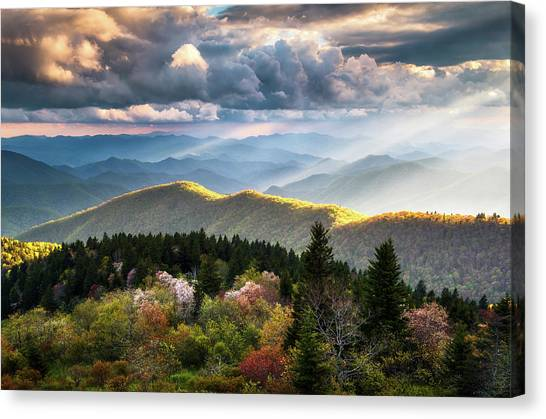 Blue Ridge Parkway Canvas Print - Great Smoky Mountains National Park - The Ridge by Dave Allen