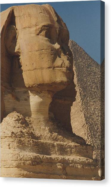 Travelpics Canvas Print - Great Sphinx Of Giza by Travel Pics