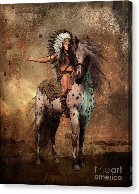 Southwest Canvas Print - Great Spirit Chief by Shanina Conway