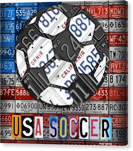 Soccer Leagues Canvas Print - Great Victory For #usa #women #team In by Design Turnpike