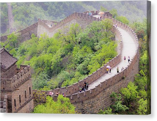 Great Wall At Badaling Canvas Print