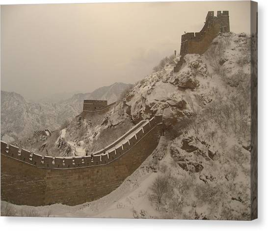 Great Wall Canvas Print by James Lukashenko