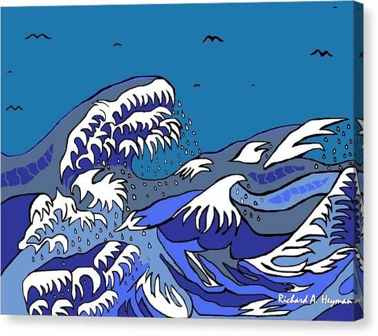 Great Wave 2011 Canvas Print by Richard Heyman