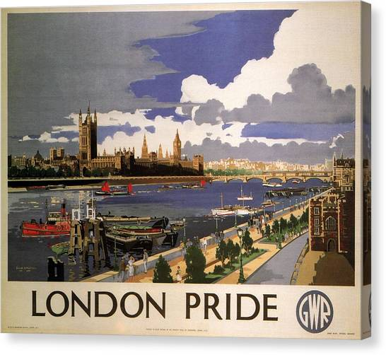 Vintage Railroad Canvas Print - Great Western Railway - London Pride - Retro Travel Poster - Vintage Poster by Studio Grafiikka