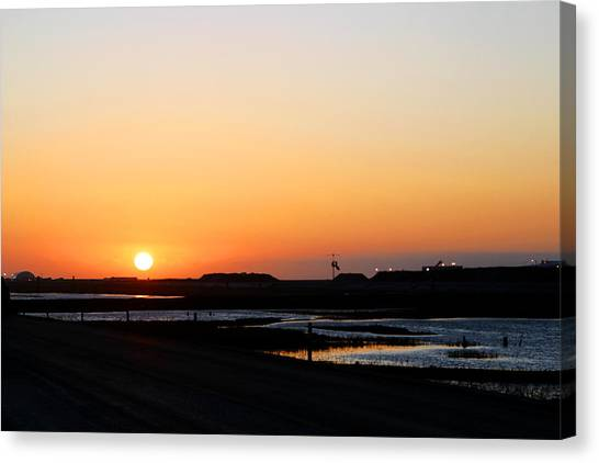 Greater Prudhoe Bay Sunrise Canvas Print