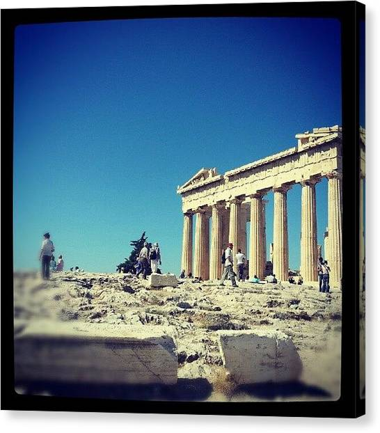 The Acropolis Canvas Print - #greece #acropolis #athens #ruins by Mish Hilas