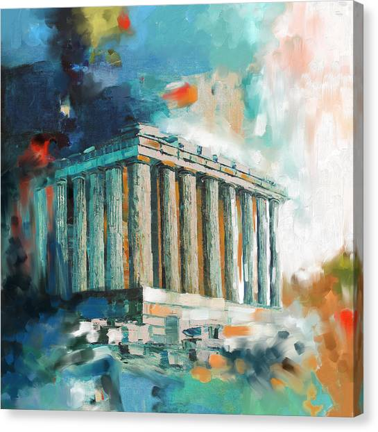 The Acropolis Canvas Print - Greece Temple Acropolis 169 2  by Mawra Tahreem