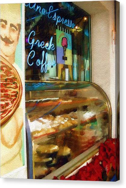 Greek Coffee Canvas Print