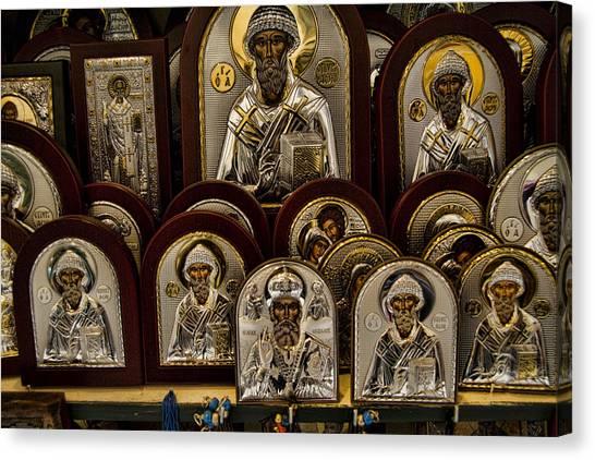 Orthodox Art Canvas Print - Greek Orthodox Church Icons by David Smith