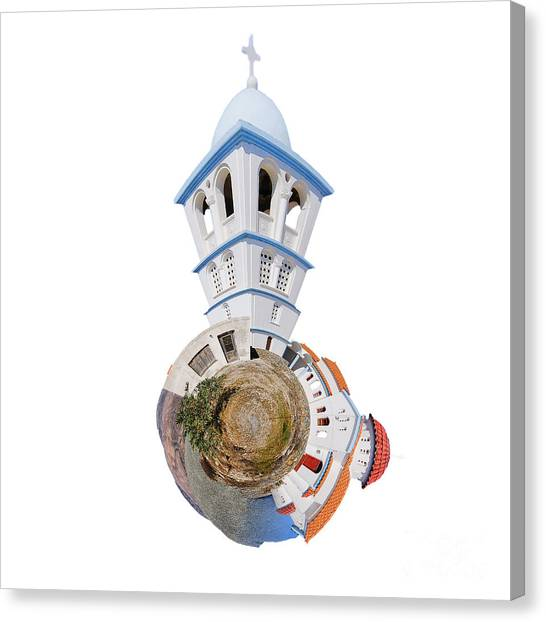 Greek Art Canvas Print - Greek Orthodox Church by Smart Aviation